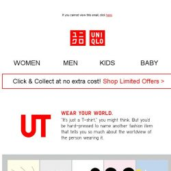 [UNIQLO Singapore] Your favourite UTs are now on offer!