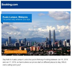 [Booking.com] Deals in Kuala Lumpur from S$ 7