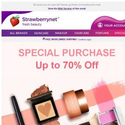 [StrawberryNet] Up to 70% Off Special Purchase!