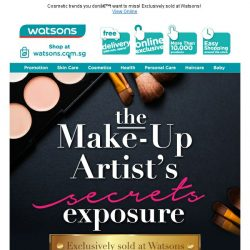 [Watsons] The Make-Up Artist's Secrets  Exposed! 