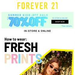 [FOREVER 21] Put it in PRINT