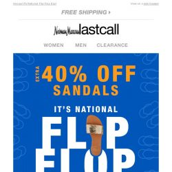 [Last Call] 1 day online: extra 40% off SANDALS