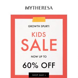 [mytheresa]  Kids' sale: further reductions up to 60% off + limited time free shipping