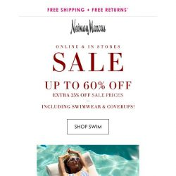 [Neiman Marcus] Save more on swim! Up to 60% off