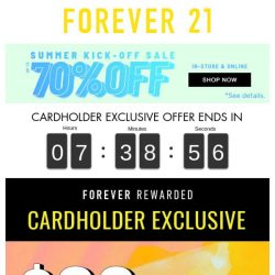 [FOREVER 21] Forever Rewarded