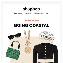 [Shopbop] A packing list for boat trips and beach days