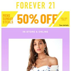 [FOREVER 21] We NEW it...