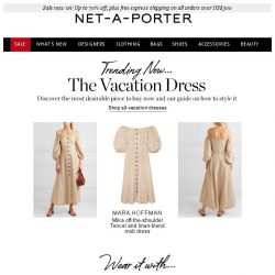 [NET-A-PORTER] Your new vacation dress