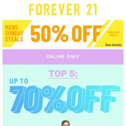 [FOREVER 21] Sunday Funday (and a BIG sale)!