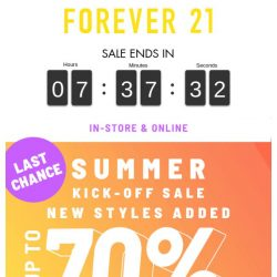 [FOREVER 21] WHAT? SAVE UP TO 70%!?