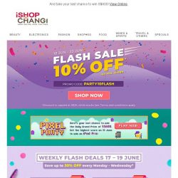[iShopChangi] 🎂The Best Birthday Deals🎂 Here now but gone in a FLASH⚡️
