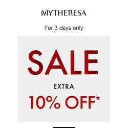 [mytheresa] 3 days only: extra 10% off selected sale items
