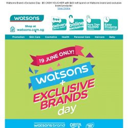 [Watsons] 1 Day only!  2nd Buy @ 50% Off!