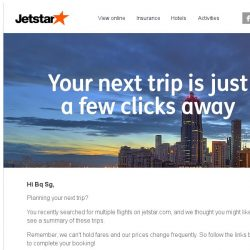 [Jetstar] Bq Sg, your next trip is just a few clicks away