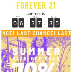 [FOREVER 21] Last Call! Up to 70% Off Sale!