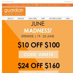[Guardian]  Drop everything! Shop SITEWIDE with $40 off your next purchase!