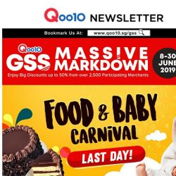 [Qoo10] LAST DAY of Food & Baby Carnival - We Have Everything You Crave For! Shop Here for Exclusive Delicious Deals at Lowest Prices!