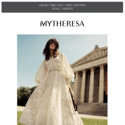 [mytheresa] Limited time free shipping + garden party dress code
