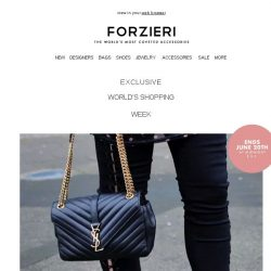 [Forzieri] Ends in 9 hours | VIP World Shopping Week Exclusive