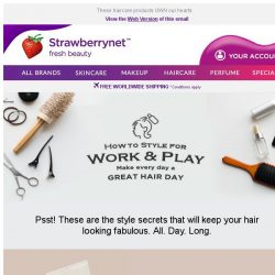 [StrawberryNet] ⏲  Secrets to Perfect Hair Day-to-Night