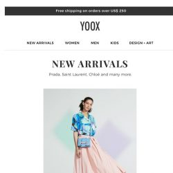 [Yoox] Renewed and refreshed! It's time for new arrivals