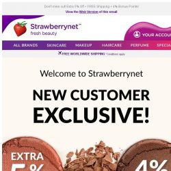 [StrawberryNet] Welcome!  Exclusive 5% Off for New Customers