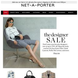 [NET-A-PORTER] Snap up to 70% off Chloé, Saint Laurent, Stella McCartney and more