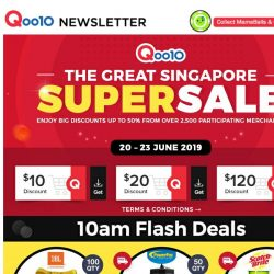 [Qoo10] Qoo10's Biggest GSS Super Sale is LIVE ! What Are You Waiting For ? Shop Now & Save Up to 60% OFF !