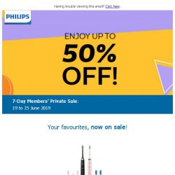 [PHILIPS] : Save up to 50%, for 7 days only!