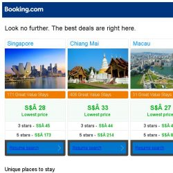 [Booking.com] Prices in Singapore are the lowest we've seen in 40 days!