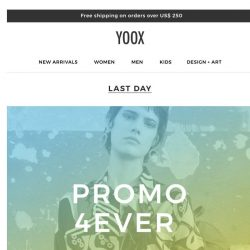[Yoox] ⏳ Our promo ends in a few hours