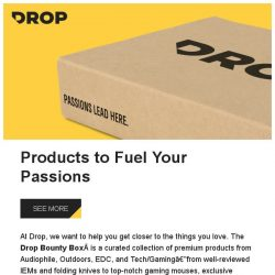 [Massdrop] Drop Bounty Box: Curated products and a shot at epic gear