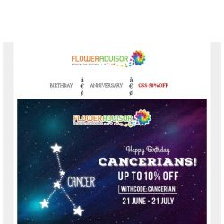 [Floweradvisor] Celebrate You Day With EXTRA 10% OFF!