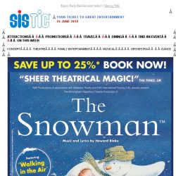 [SISTIC] ⛄ ON SALE NOW! Book Now for THE SNOWMAN and SAVE UP to 25% ⛄