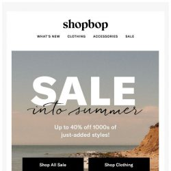 [Shopbop] Up to 40% off 1000s of SALE styles