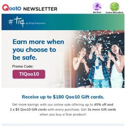 [Qoo10] Earn more when you choose to be safe with Etiqa!