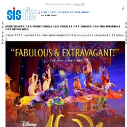 [SISTIC] Wish granted! 10% off tickets for Disney's Aladdin.