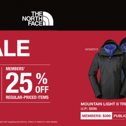 The North Face: Great Singapore Sale with Up to 25% OFF Regular-Priced Items!