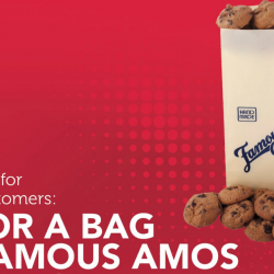 Famous Amos: Singtel Customers Enjoy a 100gm Bag of Cookies at Only $1!