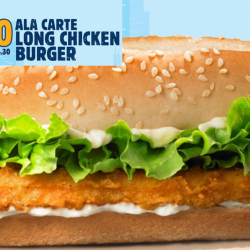 Burger King: Long Chicken Burger Now at $2.60 Only (50% OFF)!