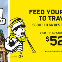 Scoot: GTG Sale with Two-to-Go Fares to 66 Destinations from SGD52!