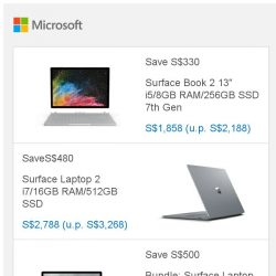 [Microsoft Store] Save S$330 on Surface Book 2. Hurry up