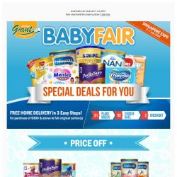 [Giant] 🏃‍ Hop to Shop Your Baby Needs on Giant Baby Fair 🍼