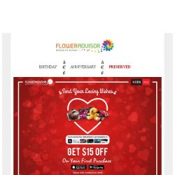 [Floweradvisor] Special promo for DBS Cardmembers. Find out more!