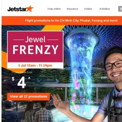 [Jetstar] ✈ Irresistible Jewel Frenzy fares for your next holiday!