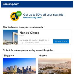 [Booking.com]  Deals to get you packing