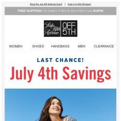 [Saks OFF 5th] LOW INVENTORY alert for your Marissa Webb item! + Last chance: BOGO 40% off sale styles is ending