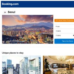 [Booking.com] Deals in Seoul from S$ 30