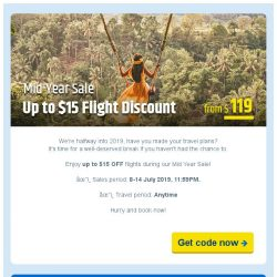 [cheaptickets.sg] Mid Year Sale 📣 Up to $15 flight discounts for grab!