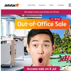 [Jetstar] Bq Sg is going to be Out of Office on...